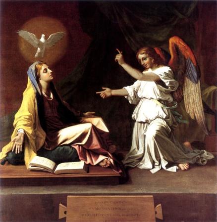 Annunciation Nicolas Poussin