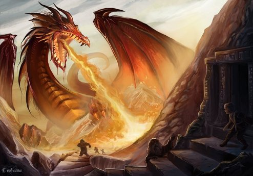 smaug_the_dragon_by_evolvana-d6qohvt
