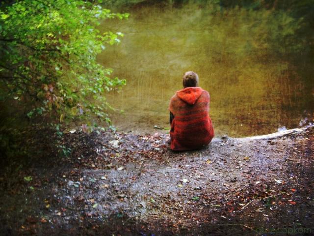 Sitting in Silence by Alice Popkorn