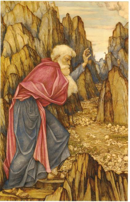 23 John Roddam Spencer Stanhope - The vision of Ezekiel - Valley of the Dry Bones