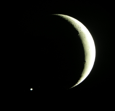 End of occultation of Jupiter by the Moon