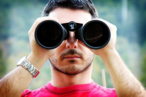 Binoculars portrait