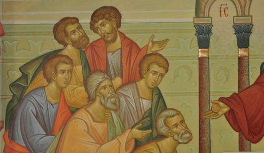 Apostles receiving communion