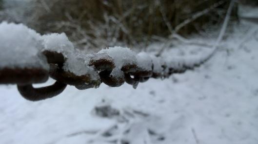 snowy chain