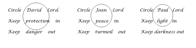 second triple circle prayer