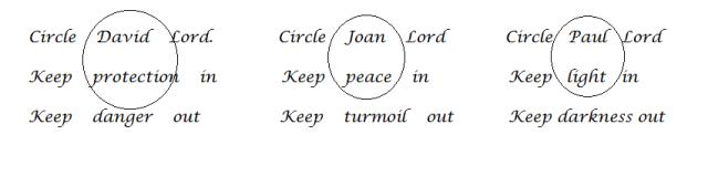 second triple circle prayer