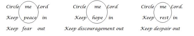 Triple circle prayer